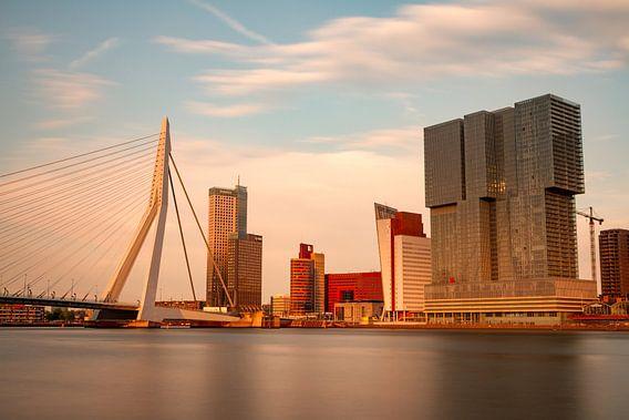 Rotterdam skyline zonsondergang