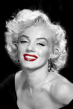 Marilyn Monroe Portrait en noir et blanc sur Gert Hilbink