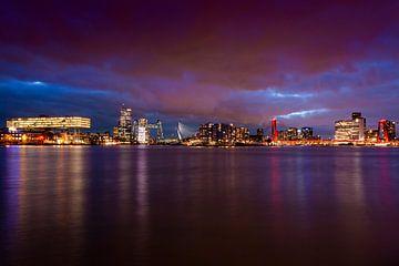 Skyline van Rotterdam van Jeroen Bukman