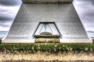 Tunnel view Zeelandbrug van Marcel van Kan