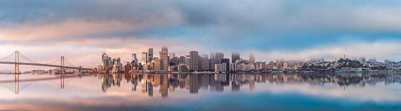 San Francisco Skyline van Remco Piet