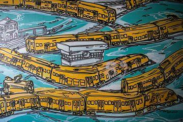 Graffiti von Zügen von Antwan Janssen