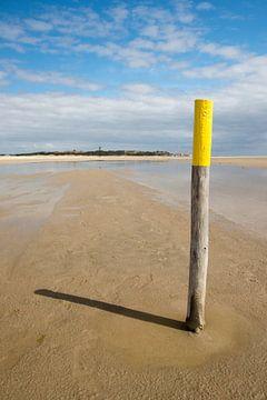 Strand van het eiland Terschelling van