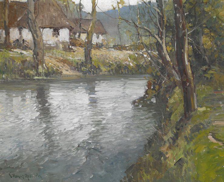 George Ames Aldrich (Amerikaner, 1872-1941)~Grauer Tag in der Normandie von finemasterpiece