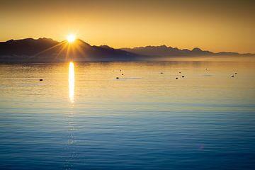 Sonnenuntergang am Chiemsee von Martin Wasilewski
