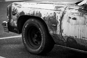 Cadillac zwart wit
