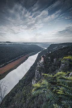 Gezicht op de Elbe van Sebastian Witt