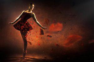 Red ballerina von Arjen Roos