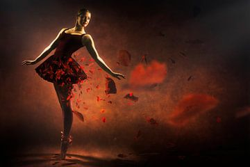 Red ballerina sur Arjen Roos