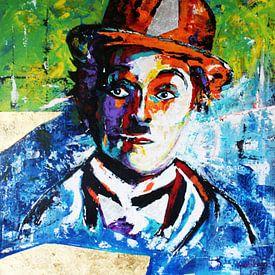 Charlie Chaplin «Gold» sur Kathleen Artist Fine Art