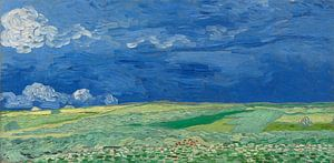 Weizenfeld unter Gewitterwolken, Vincent van Gogh