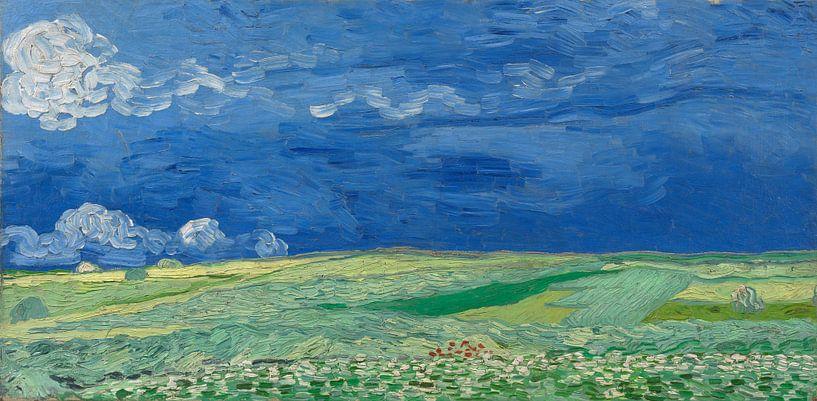 Weizenfeld unter Gewitterwolken, Vincent van Gogh von Meesterlijcke Meesters