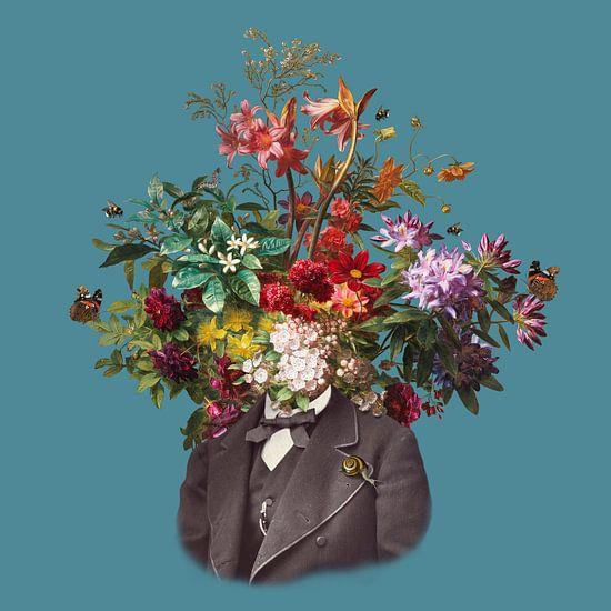 Zelfportret met bloemen 16