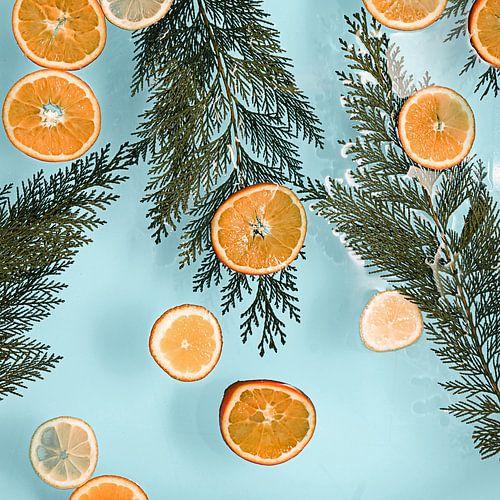 Valencia vibes - Sinaasappels // baby blauw