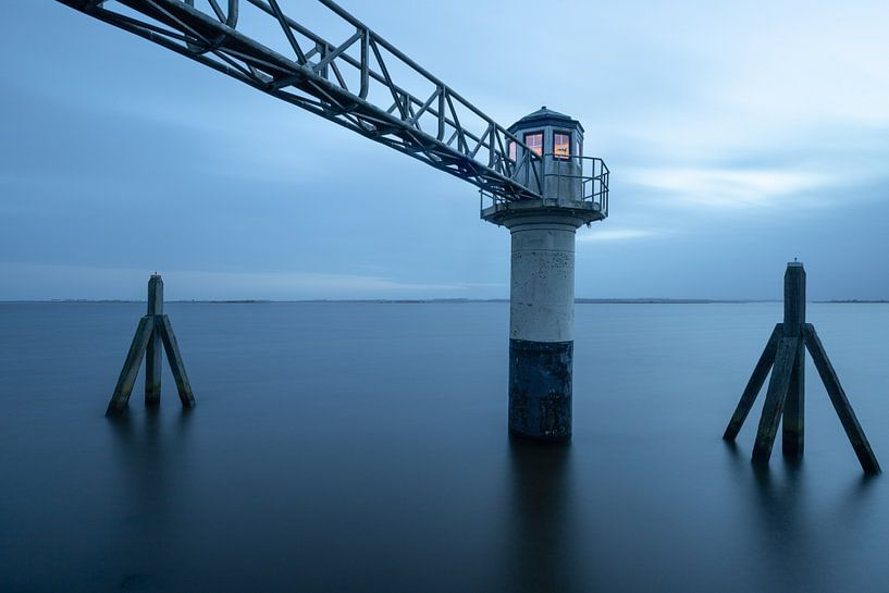 Lighthouse Oostmahorn (The Netherlands) van Sjaak den Breeje
