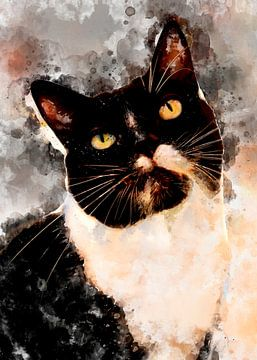 Katze 15 Tiere Kunst #Katze #Katzen #Kätzchen von JBJart Justyna Jaszke