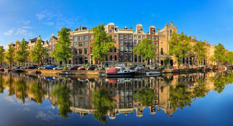 Keizersgracht reflectie panorama van Dennis van de Water