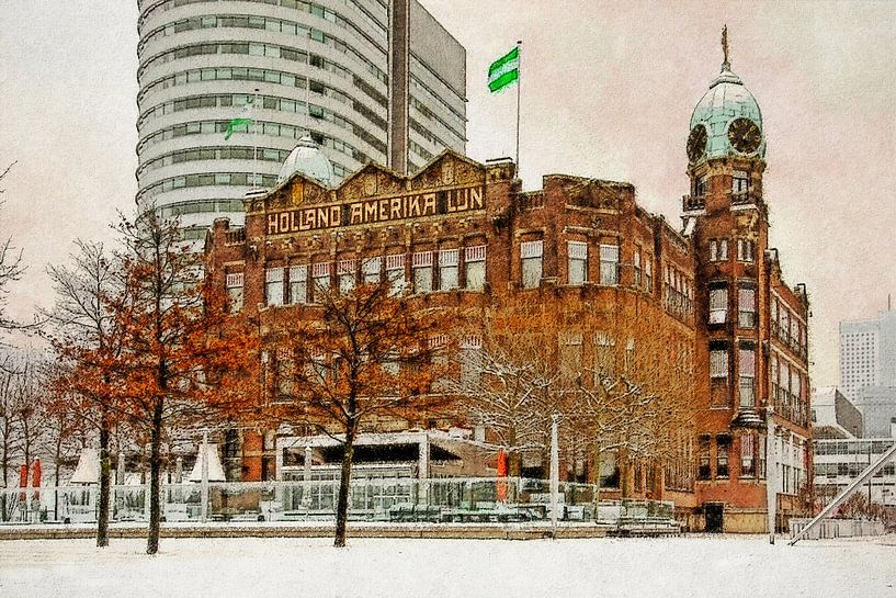 Winterbeeld Hotel New York van Frans Blok
