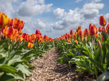 Tulpen in olieverf van Alex Hiemstra