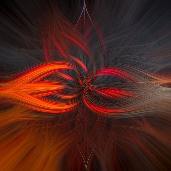 Abstract vierkant 2 van Leo Luijten