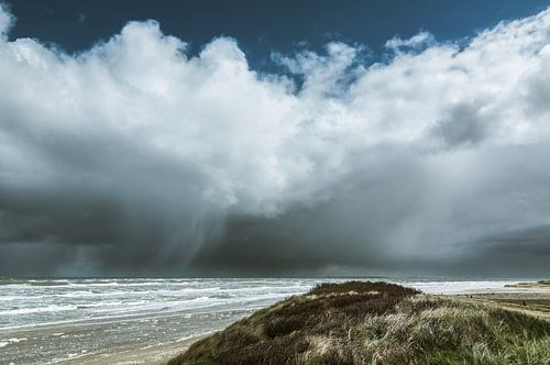 Zicht op Ameland vanaf Terschelling van Albert Wester Terschelling Photography