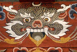 Demon in de Trongsa Dzong in Butan,