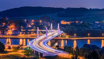 Bridge over the Albertkanaal in Kanne, Belgium van Henk Meijer Photography