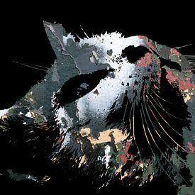 Kattenkunst: Camouflage Cats 1A van MoArt (Maurice Heuts)