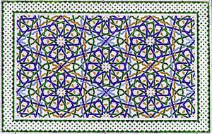 Marokkaans mozaïek, wandpaneel III van