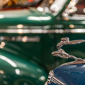 Logo en ornament op een Buick von autofotografie nederland