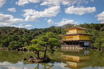 De Gouden Tempel (Kinkaku-ji) in Kyoto van Marcel Alsemgeest