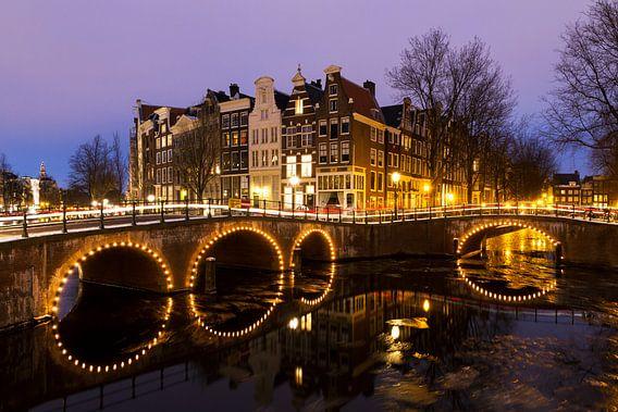 Keizersgracht Amsterdam in de avond van Dennis van de Water