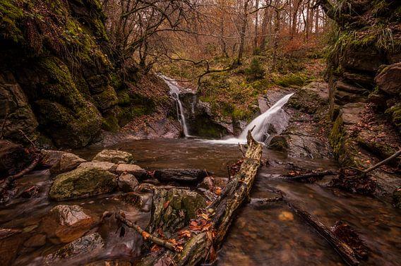 Watervallen Ninglinspo in de Ardennen van Bert Beckers