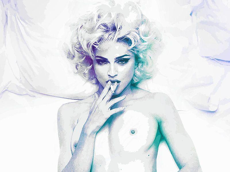 Im Bett mit Madonna abstrakt von Art By Dominic