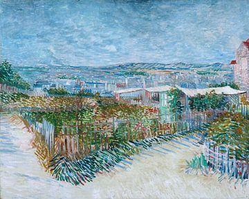 Montmartre - hinter der Moulin de la Galette, Vincent van Gogh