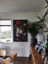 Photo de nos clients: Nature morte avec des fleurs dans un vase en verre, Jan Davidsz. de Heem, sur toile