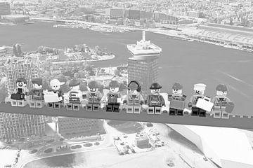 Lunch atop a skyscraper Lego edition - Amsterdam van Marco van den Arend