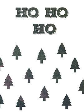 Ho Ho Ho - Kerst Print