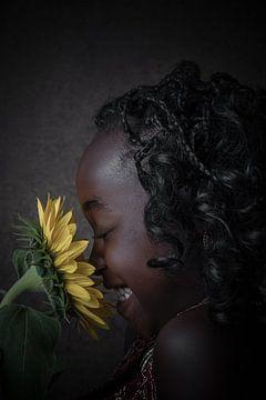 Fröhliche Blume von Manon Moller Fotografie