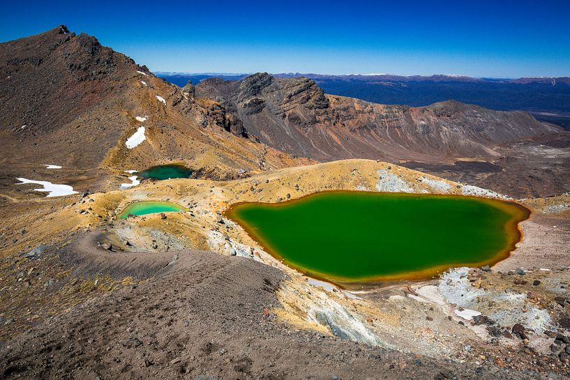 Emerald Lakes, Tongariro, Nieuw-Zeeland van Martijn Smeets