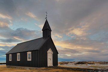IJslandse Zwarte Kerk van Stefan Schäfer