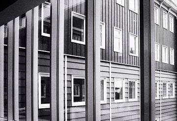 Lijnenspel gebouwen, buildings von Renata Jansen