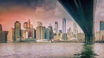 Onder de Brooklyn Bridge van Dennis Donders