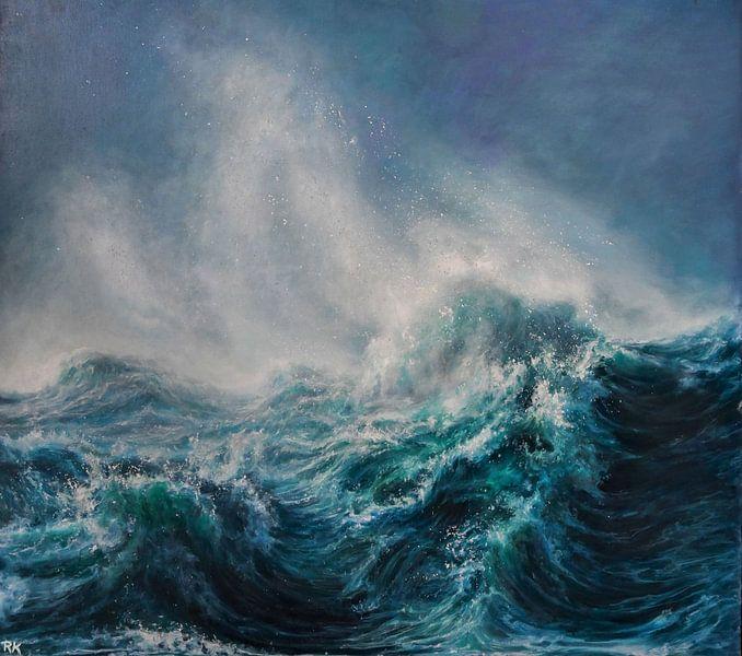 Wind by de zee van KB Prints