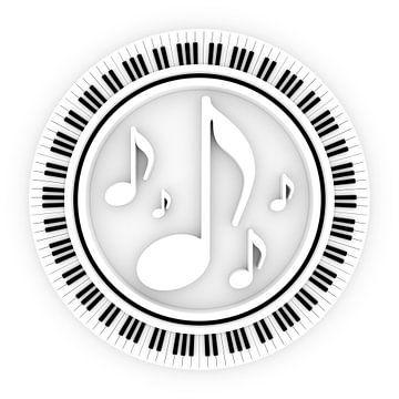 Klaviatur rund van Jörg Hausmann
