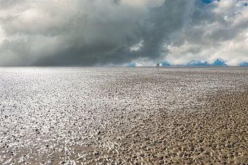 Waddenzee bij laag getijde. van Brian Morgan