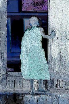 'Monnik bij nacht' van Affectfotografie