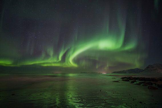 Aurora Borealis - Northern Lights van Babs Boelens