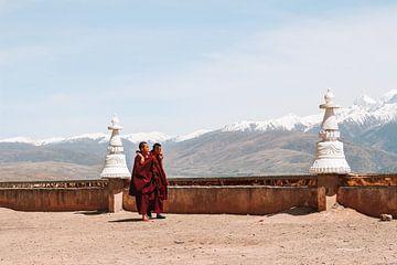 Tibetaanse monniken in Tibet van Your Travel Reporter