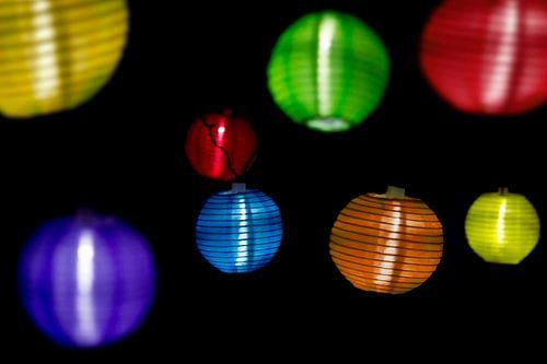 Colourful lights van